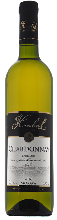 Hrabal Chardonnay barrique Traditional 0,75l pozdní sběr 2016