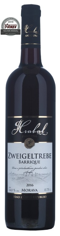 Hrabal Zweigeltrebe barrique Traditional 0,75l pozdní sběr 2018